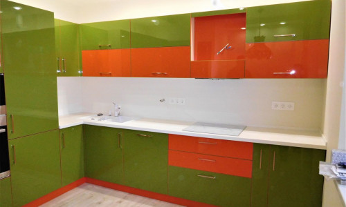 Акрилайн - зеленый/оранжевый