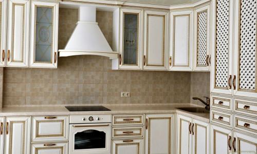 """""""Элиза"""", массив ясеня, угловая кухня со встроенным холодильником (Копировать)"""